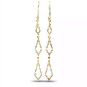 $1900 .40Ct VS1 G Diamond 14K Gold Dangle Earrings